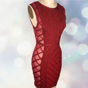 House of London red bandage dress size XS like new